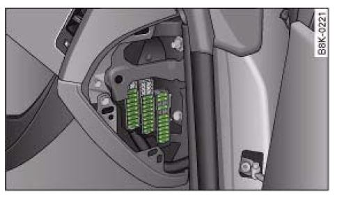 Audi_A4_B8_fuse_box_diagram_left_hand audi a4 b8 (2007 to 2015) fuses list and amperage 2011 audi a4 fuse box diagram at bakdesigns.co