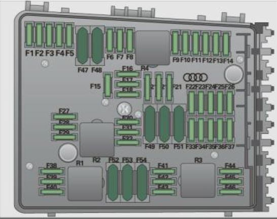 Audi A3 8P (2003 to 2013) - Fuse Box Location and Fuses List  Audi A Fuse Box Diagram on