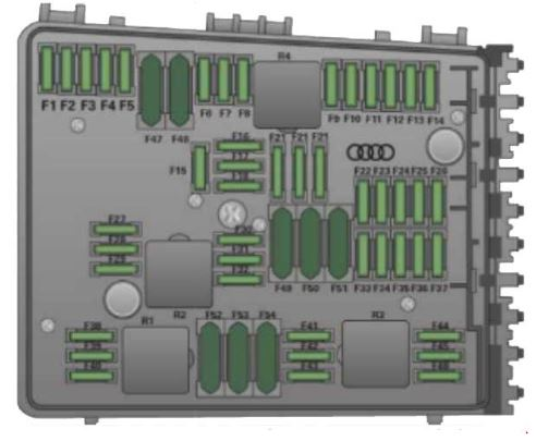 audi tt 8j fuse box diagram – engine compartment- left side
