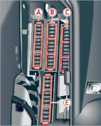audi a4 b9 fuse box diagram – fuse box diagram – luggage compartment left