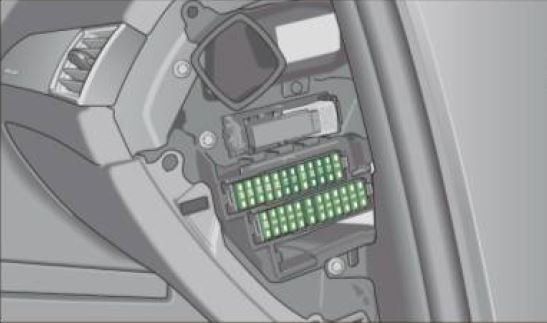 audi a6 c6 – fuse box diagram – dashboard passenger's side